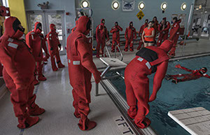 Immersion Suits for STCW Basic Safety Training