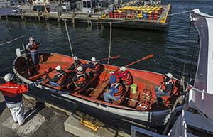 Lifeboatman training for STCW Basic Safety Training