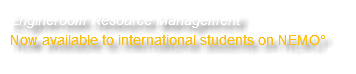 Engineroom Resource Management Now available to international students on NEMO°