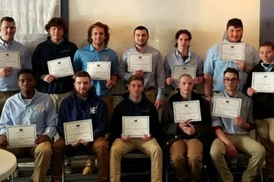 The Lemley Award, award ceremony, college students, northeast maritime institute, award recipients