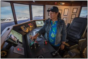 Aunofo Havea Training on the Northeast Maritime Bridge Simulator