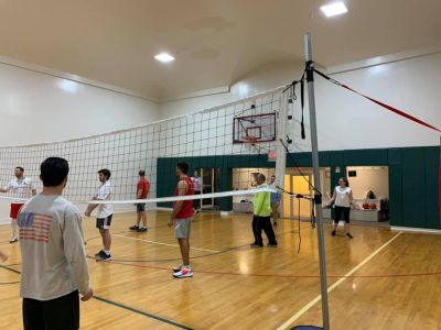 Volleyball game, student activities, college student life, college of maritime science