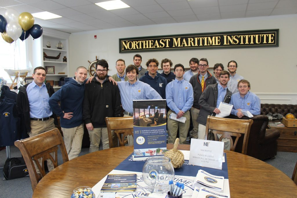Northeast Maritime Institute Students hanging out during Open House