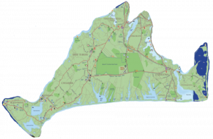 Map of Martha's Vineyard