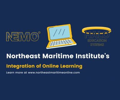 Northeast Maritime Online, HALO Education Systems, online learning, nmi's integration of online learning