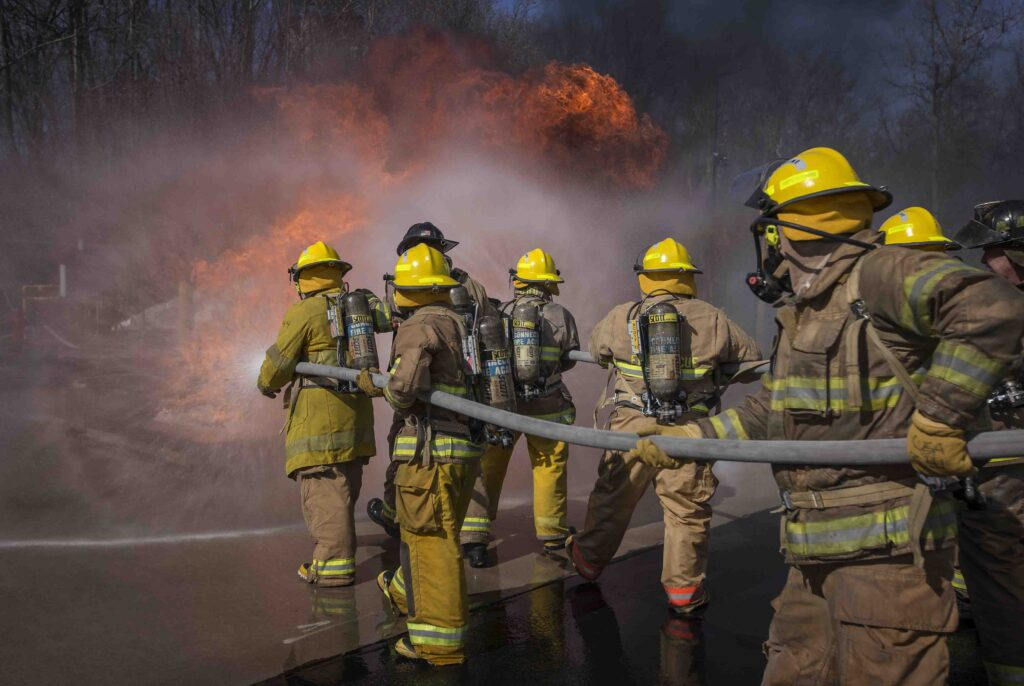 Firefighting, hands-on learning, advanced firefighting training, firefighting training, experiential learning